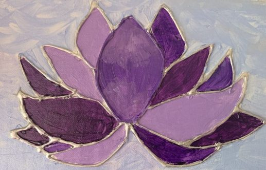 lotus flower made with hot glue gun; Win's Books Built By Us project