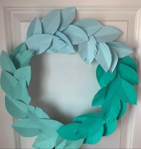 Ombré wreath diy