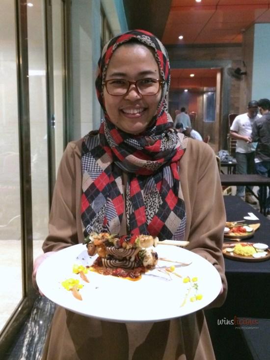 Lina, Pemenang Pertama Lomba Food Styling