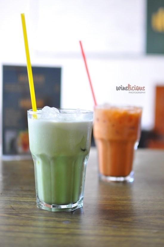 Greentea dan Thai Tea di Warung Menantu