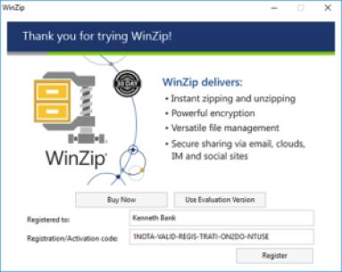winzip registration code