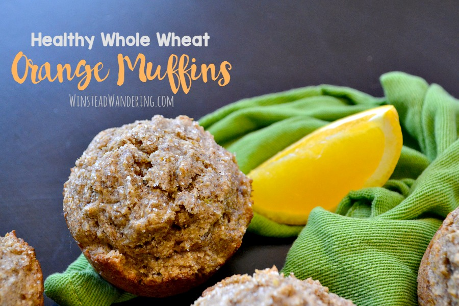 Healthy whole wheat orange muffins are sweetened with honey and fresh orange juice for the perfect bright, guilt-free snack or breakfast.