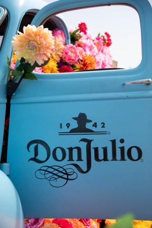 Flowers   Winston   Main Vintage blue Chevy Don Julio Tequila truck filled with flowers by Winston    Main