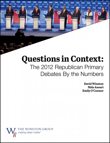 Questions in Context: The 2012 Republican Primary Debates By the Numbers