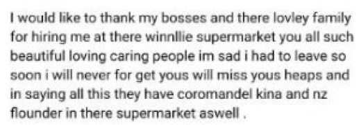 Winnellie Supermarket Job Application