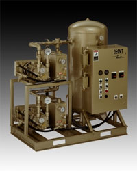 oil-sealed liquid ring vacuum system, duplex single-stage Vmax system