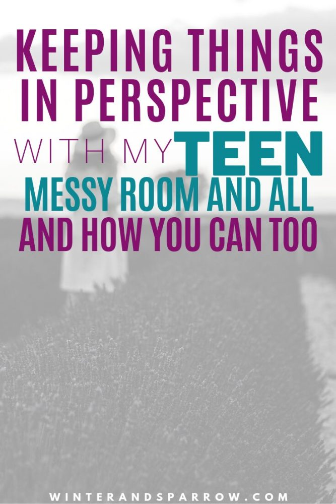 Keeping Things In Perspective With My Teen (Messy Room and All) and How You Can Too | winterandsparrow.com