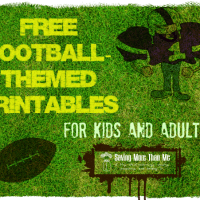 Free Football Themed Printables #superbowl