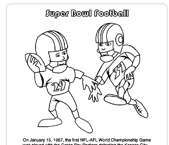 Free Football Themed Printables For Children {and Adults} #superbowl winterandsparrow.com