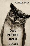 Owl Home Decor: I Have An Owl Addiction + A Cat and Owl Can Be Friends?