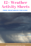 Free Weather Activity Sheets For Kids: Coloring Pages, Crosswords, Word Search