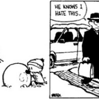 Fun Friday-->Calvin and Hobbes: Snowmen Salute?