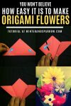 You Won't Believe How Easy It Is to Make Origami Flowers