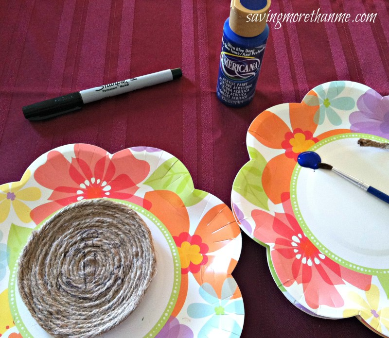 DIY Nautical-Themed Rope Coasters #crafts winterandsparrow.com