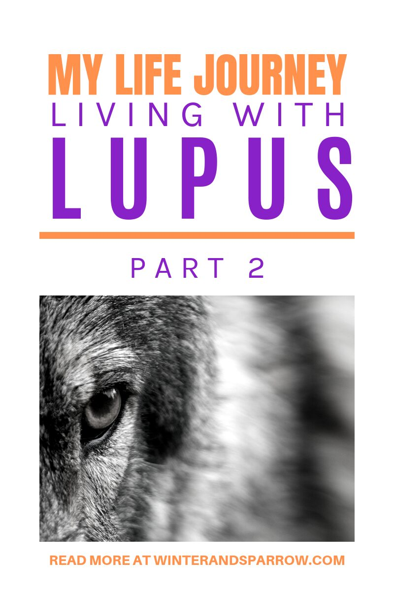 My Life Journey- Living With Lupus: Part 2   winterandsparrow.com #livingwithlupus #spoonie #lupusjourney #chronicillness