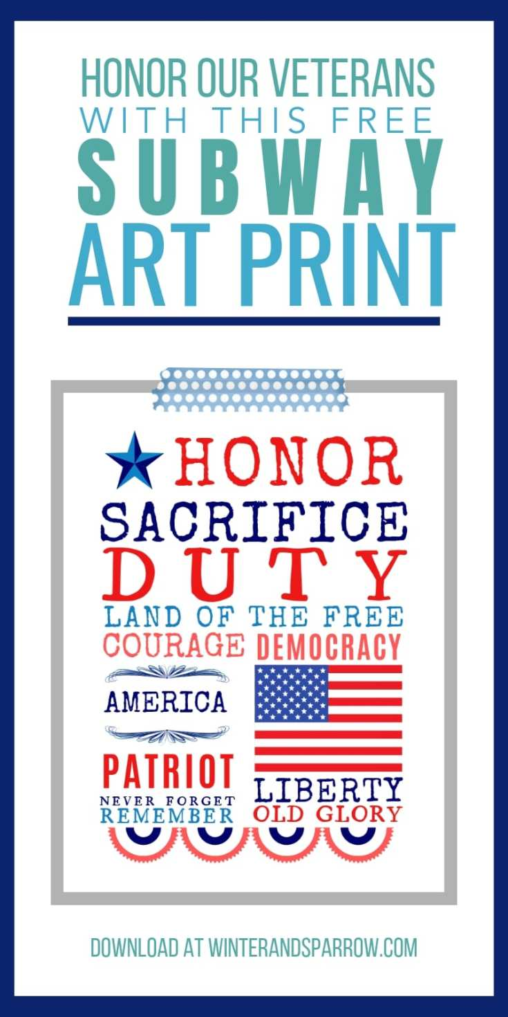 Honor Our Veterans: Don't Ignore The Poppies + Memorial Day Subway Art Print {free}