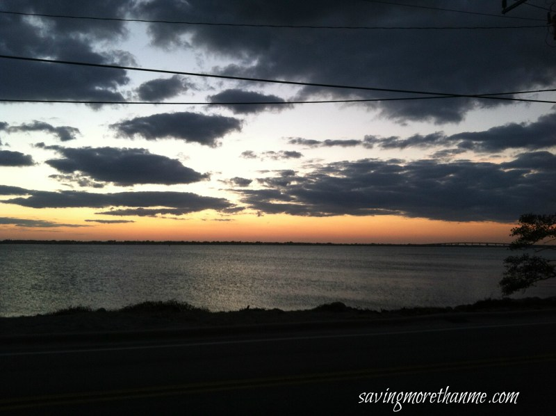 Sunset over the water in Stuart-The Beauty of South Florida:  Beaches, Sunsets, and Palm Trees   winterandsparrow.com #southflorida #floridatravel #sunsetpictures #keywest