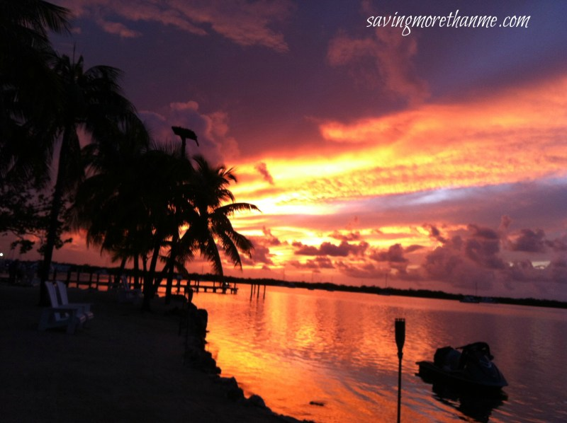 Gorgeous Sunset in the Keys-The Beauty of South Florida: Beaches, Sunsets, and Palm Trees | winterandsparrow.com #southflorida #floridatravel #sunsetpictures #keywest