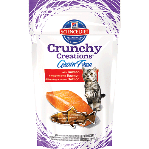 Hills Science Diet Grain Free Treats for cats with salmon #HillsPet