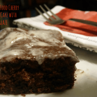Devil's Food Cherry Coffee Cake with Glaze #recipes