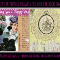 Two Free Easter+Vintage-Themed Facebook Cover Photos {For You!} #easter