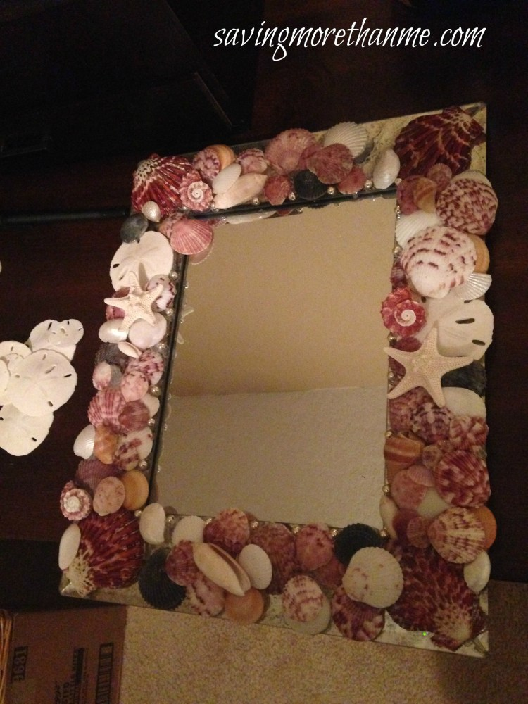 DIY Nautical Seashell Mirror