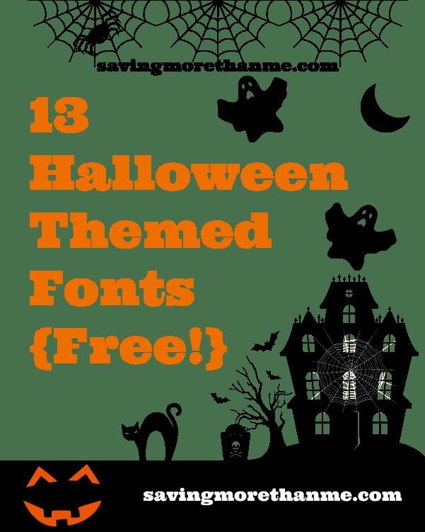 13 Free Halloween Fonts {and a candy rant!} winterandsparrow.com