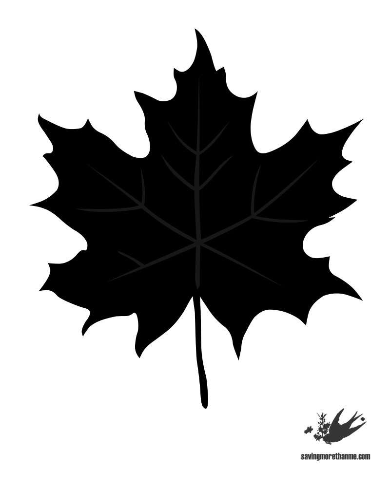 6 free fall leaf templates winterandsparrow.com #FallInVA