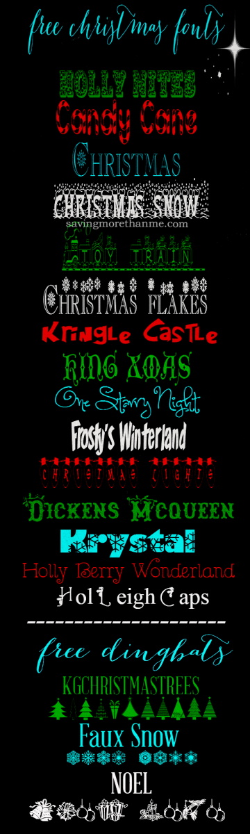 15 Free Christmas Fonts + How To Install Fonts On A Windows PC  winterandsparrow.com