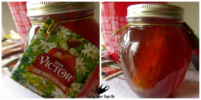 honeycomb honey don victor Make A Winter Survival Gift Basket With Honey, Tea, and Me #HoneyForHolidays #DonVictor #Ad winterandsparrow.com