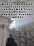 What Is Baroque Style? The Answer + Four Free Vintage Baroque Images
