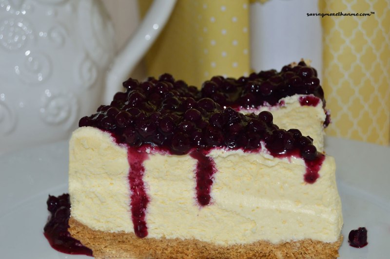 Delicious Cheesecake with Blueberry Topping #recipes winterandsparrow.com