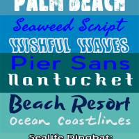 Free Fonts Inspired By The Beach and Sea