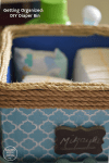 Getting Organized: Household Supplies + DIY Diaper Bin