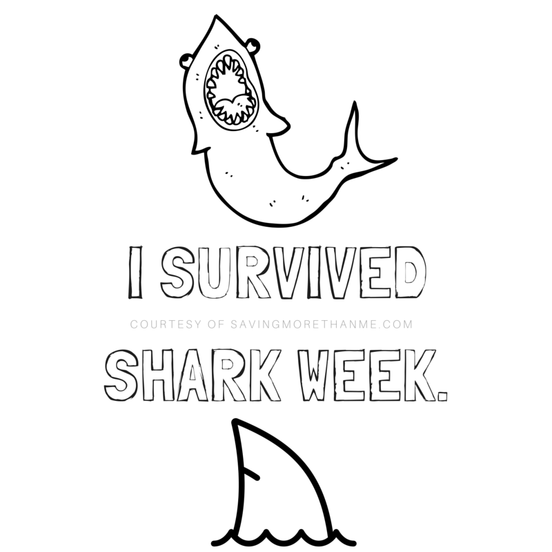 picture about Printable Fonts titled 12 Shark-Influenced Fonts + I Survived Shark 7 days Printable