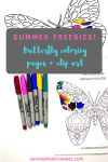 Summer Freebies:  Butterfly Coloring Pages, Clip Art, and Bookmarks