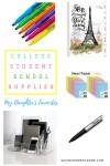 College Student School Supplies: My Daughter's Favorites