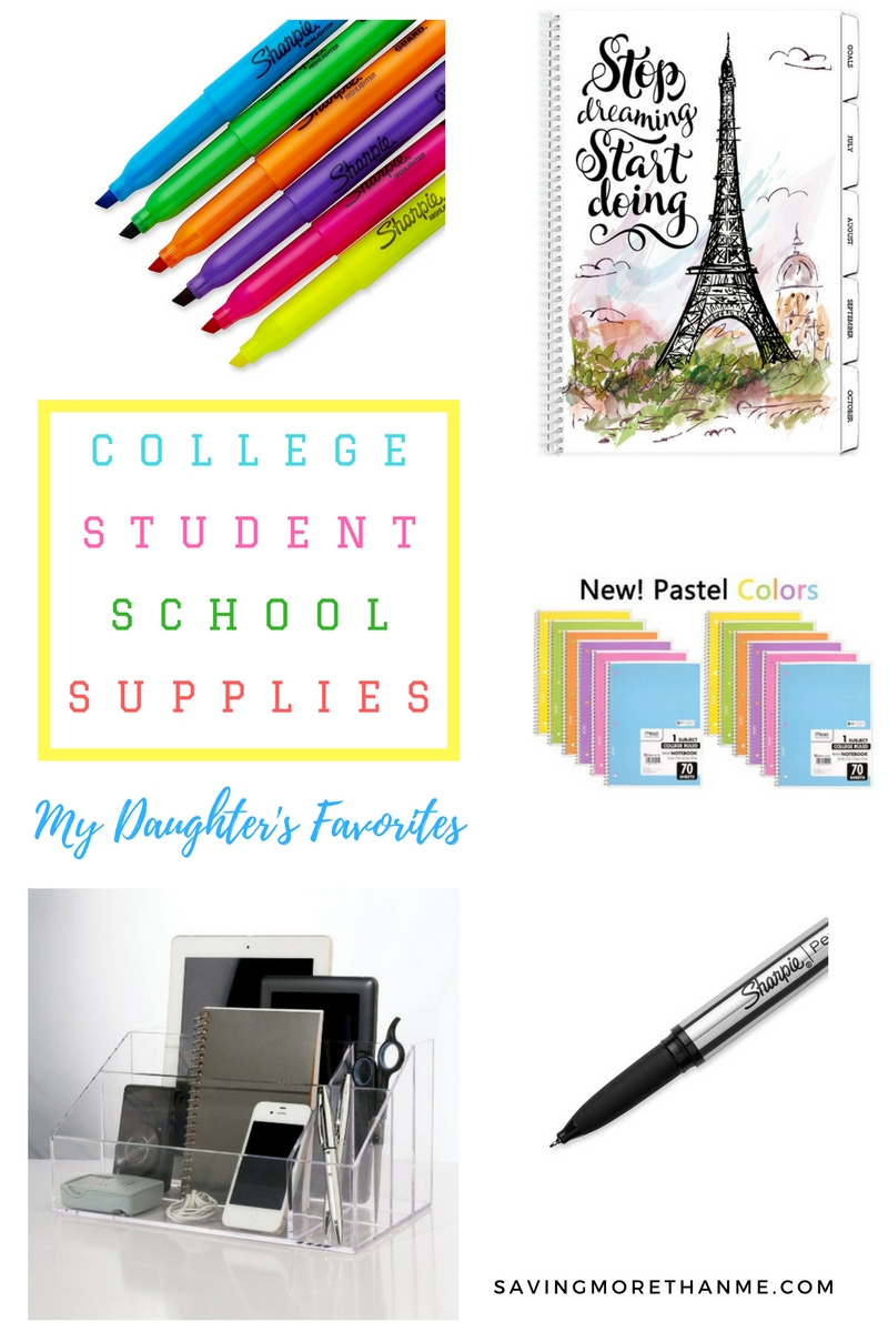 College Student School Supplies: My Daughter's Favorites @AmazonStudent #PrimeStudent #CG #ad