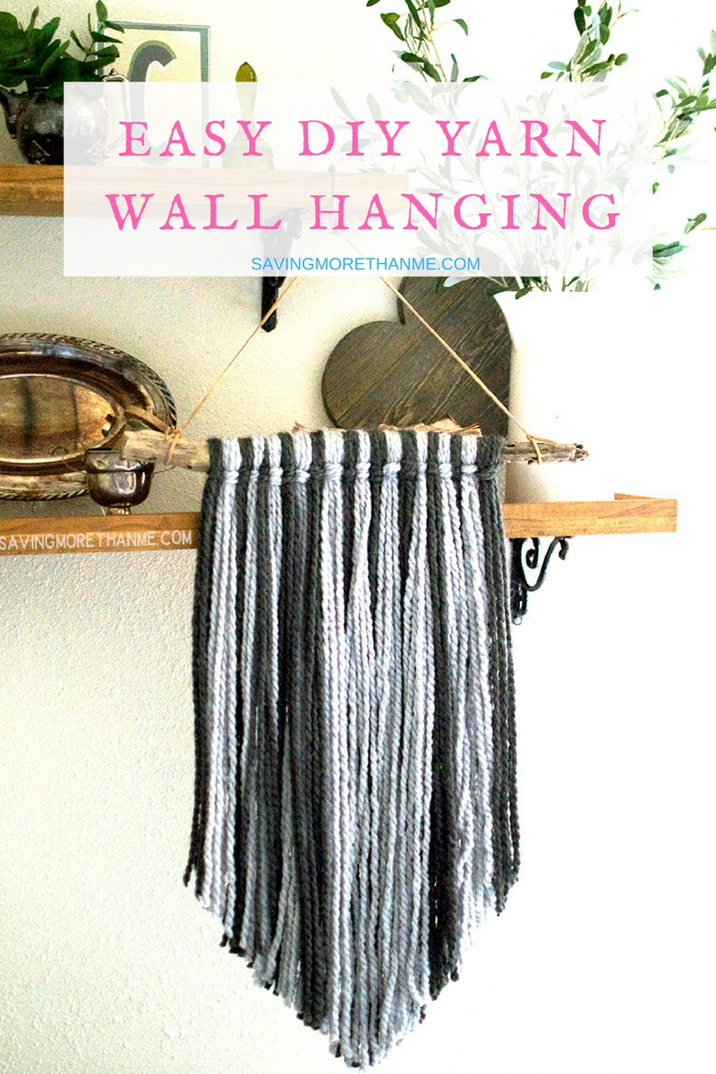 Easy DIY Yarn Wall Hanging:  Perfect For Hiding Outlets + Faceplates