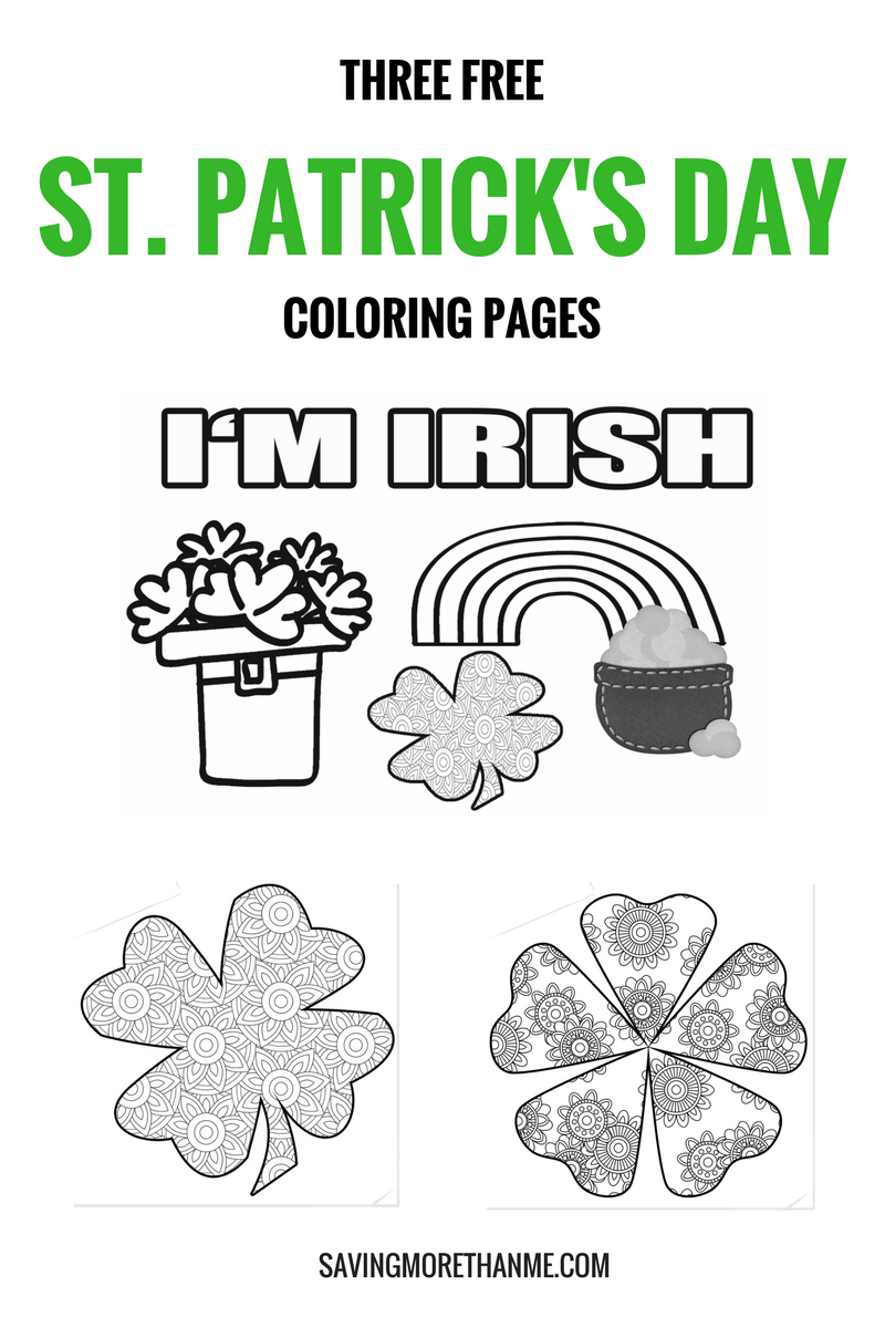 That Time I Was In A Parade + Free St. Patrick's Day Coloring Pages | Word Search