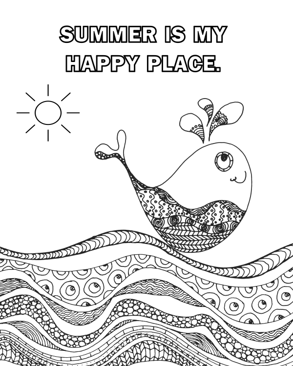 Four Free Summer Coloring Pages #summer winterandsparrow.com
