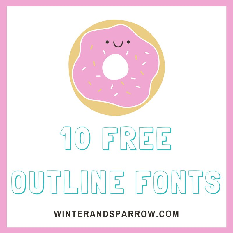 10 Free Outline Fonts (Perfect For Coloring Pages) winterandsparrow.com