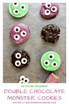 Double Chocolate Monster Cookies #Halloween