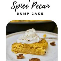 Pumpkin Spice Pecan Dump Cake