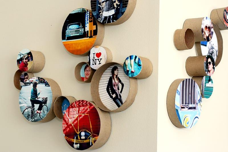Do Frames Differently: 7 Creative Ways To Display Your Photos | winterandsparrow.com #pictureideas #photoideas