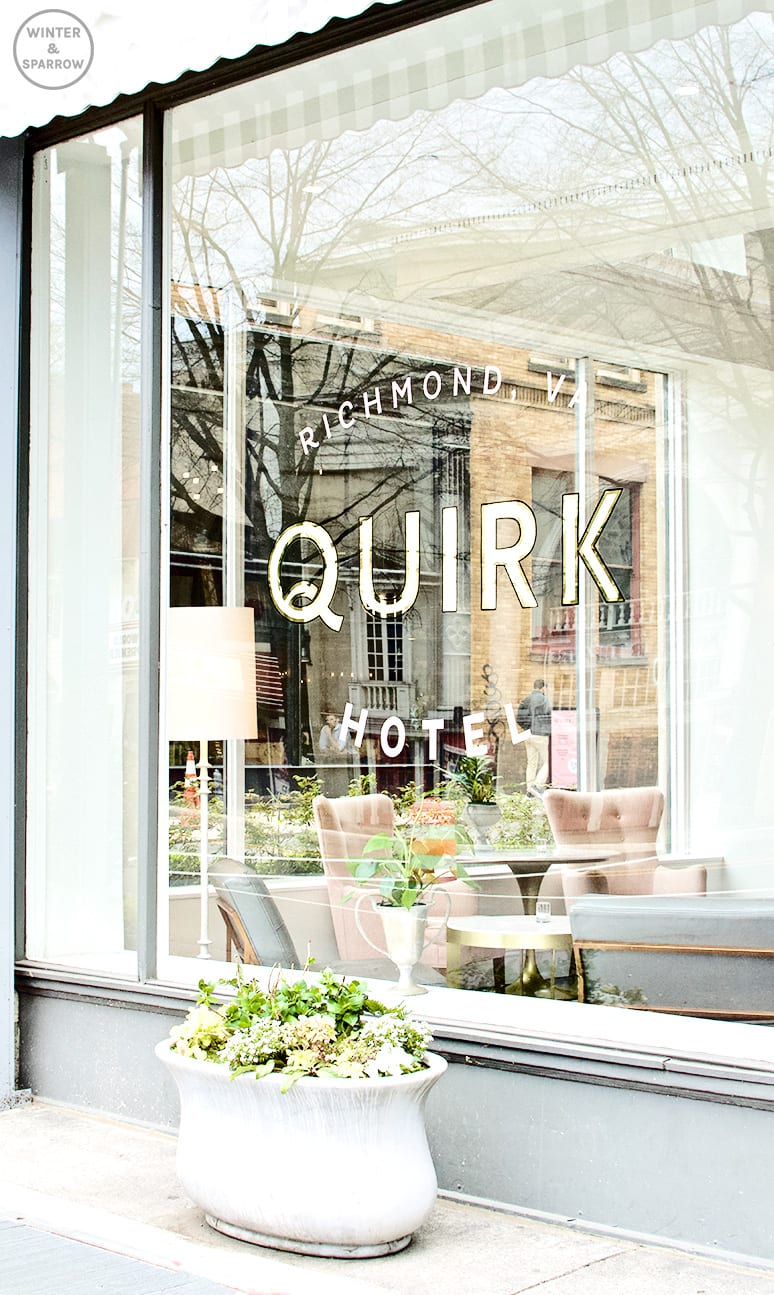 A Night At The Quirk Hotel In Richmond, VA: Voted One Of The South's Best Hotels #RVA |winterandsparrow.com #thequirkhotel