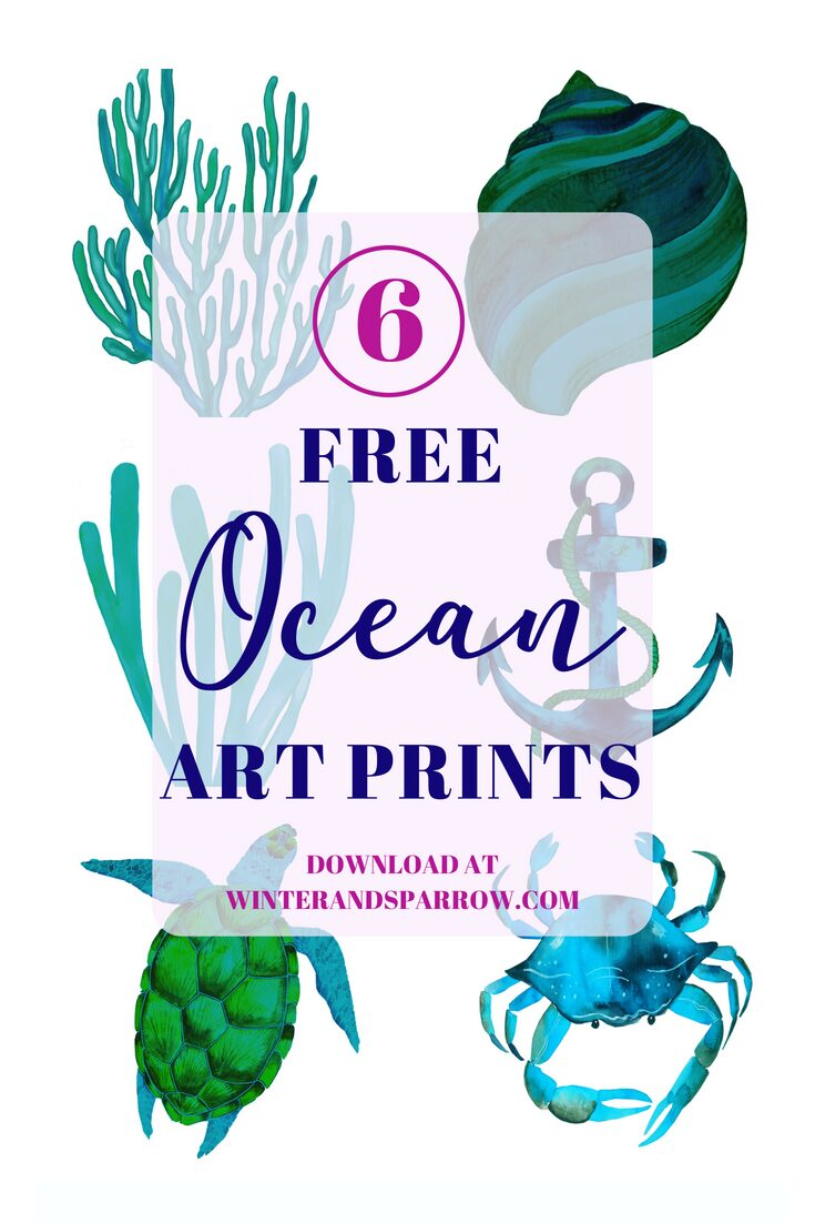 6 Free Ocean Art Prints + A Creative Prize Pack Giveaway (ARV $150 Ends 07/09-US Only)