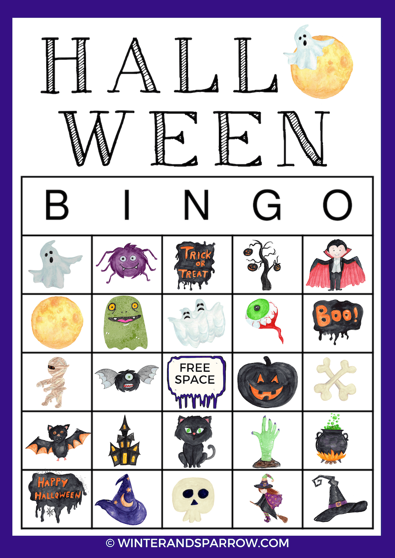 picture regarding Printable Bingo Calling Cards referred to as Halloween Printable BINGO Playing cards: Consists of 4 Choice