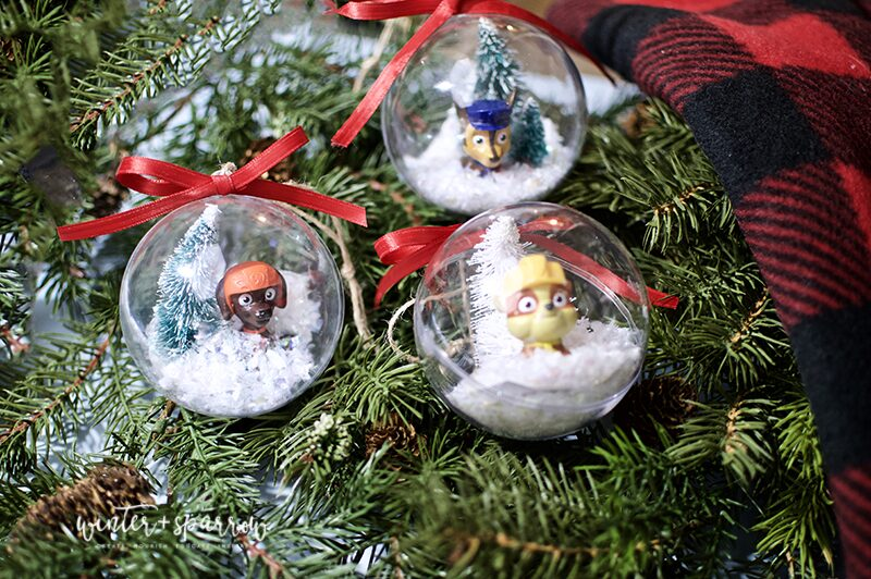 Dollar Store Crafts: Paw Patrol Holiday Ornaments [Totally Cute and Cheap]   winterandsparrow.com #dollarstorecrafts #dollartreecrafts #pawpatrolchristmas #pawpatrolcrafts