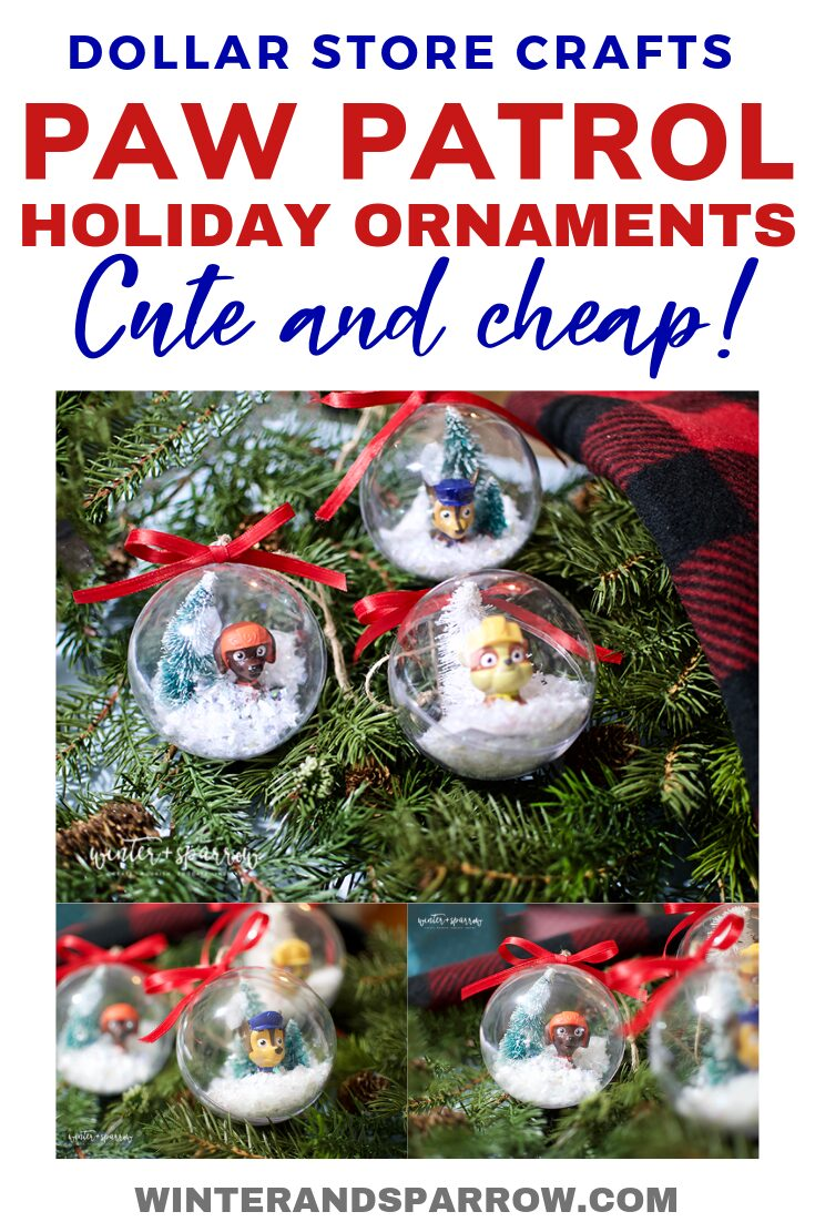 Paw Patrol Christmas Ornament.Dollar Store Crafts Paw Patrol Holiday Ornaments Totally